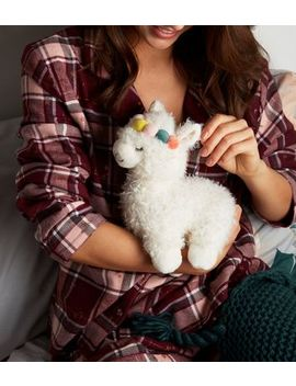 White Microwaveable Pom Pom Headband Llama by New Look