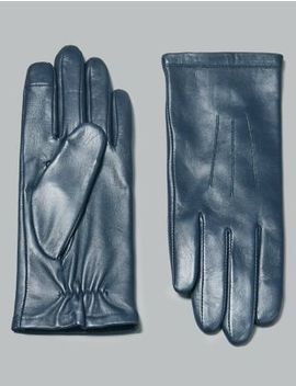 Touch Screen Leather Stitch Detail Gloves by Marks & Spencer