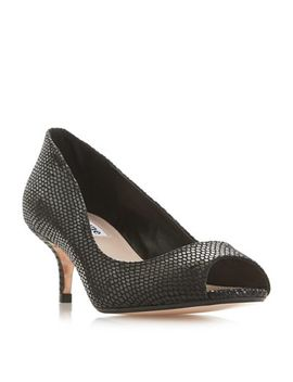 Dune   Black 'cherrie' Mid Kitten Heel Court Shoes by Dune