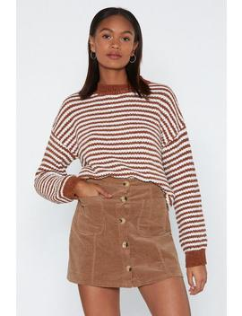 Cut It Line Striped Sweater by Nasty Gal