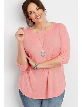 Plus Size 24/7 Solid Weekender Tee by Maurices
