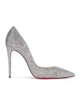 Iriza 100 Metallic Coated Leather Pumps by Christian Louboutin