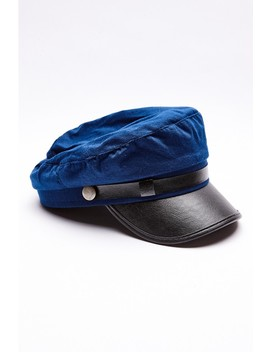 Blue Military Baker Boy Hat by In The Style