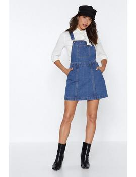 Play Nice Denim Pinafore Dress by Nasty Gal