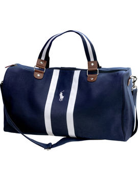 Ralph Lauren Polo Blue And White Weekend / Cabin / Gym / Holdall / Duffle Bag by Ralph Lauren