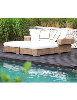 2017 Factory Direct Sale Synthetic Rattan Furniture Outdoor Chaise Daybed Double Beds by Ali Express