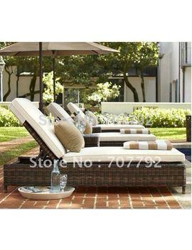2017 Hot Sale Sg 12002 C Elegant Black Rattan Deck Chair Furniture by Ali Express