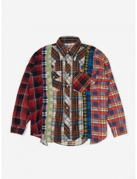 Rebuild 7 Cuts Flannel Shirt Size Medium 4   Assorted by Needles