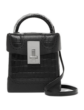 Great L Alice Laser Cut Croc Effect Leather Shoulder Bag by The Volon