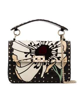 Valentino Garavani Medium Rocktud Spike Flower Shoulder Bag by Valentino