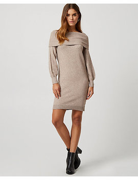 Off The Shoulder Sweater Dress by Le Chateau