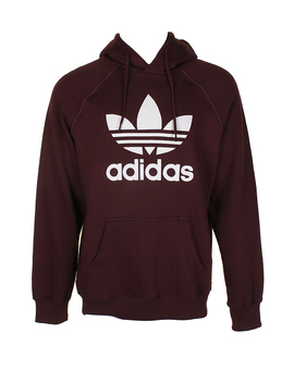 Adidas Men's Trefoil Logo Graphic Pouch Pocket Pullover Hoodie by Adidas