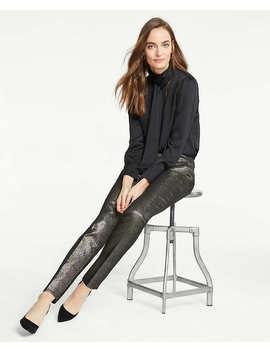 The Ankle Pant In Golden Shimmer by Ann Taylor