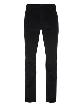 Black Straight Leg Cord Trousers by Primark