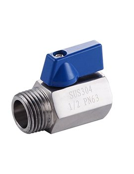 Kes Shower Head Shut Off Valve Ball Valve G 1/2 Sus304 Stainless Steel Polished Finish, K1145 by Kes