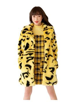 Yellow Leopard Coat by Ban.Do