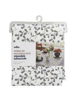 Wilko Pvc Tablecloth Grey Floral 132 X 178cm Wilko Pvc Tablecloth Grey Floral 132 X 178cm by Wilko