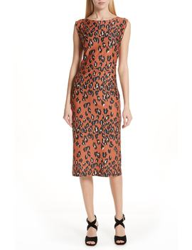 Medina Leopard Print Sheath Dress by Rachel Comey