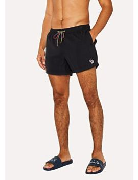 Men's Black Zebra Logo Swim Shorts by Paul Smith