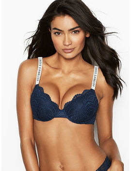 Logos & Lace Lightly Lined Demi Bra by Victoria's Secret