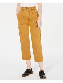 Seamed Like The Real Belted Pants by Free People