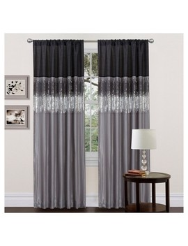 "Night Sky Window Curtain Black/Gray (84""X42"")   Lush Décor by Lush Decor"