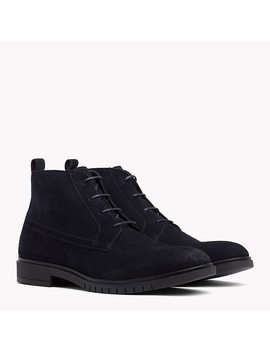 Flexible Sole Suede Chukka Boots by Tommy Hilfiger