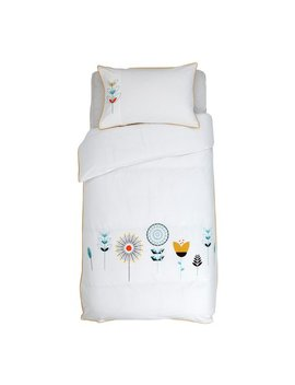 Argos Home Retro Embroidery Bedding Set   Single by Argos