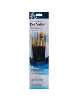 Princeton Art & Brush Co. Real Value™ Golden Taklon Brush Set With #1 Script by Princeton Art & Brush Co