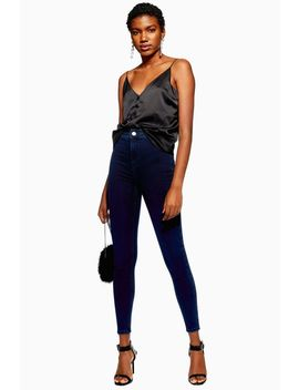 Blue Black Joni Jeans by Topshop