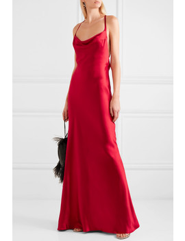 Whiteley Open Back Silk Satin Gown by Galvan