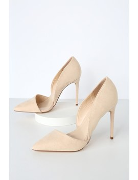 Stormi Nude Suede D'orsay Pumps by Lulus