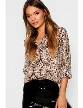 Snake Print Shirt by Boohoo