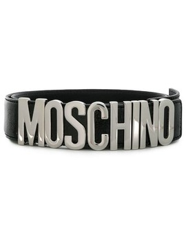 Logo Lettering Belt by Moschino