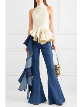 Ruffled Crepe Top by Solace London