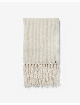 Knitted Fringe Oblong Scarf by Express