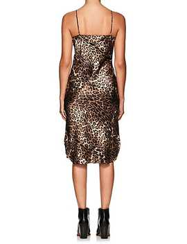 Leopard Print Silk Slipdress by Nili Lotan
