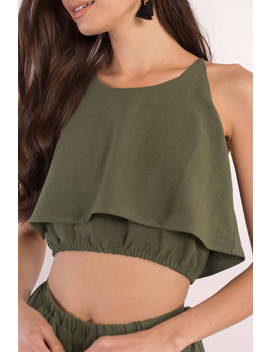 Tanya Olive Crop Top by Tobi