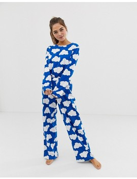 Asos Design Mix & Match Cloud Pyjama Set by Asos Brand