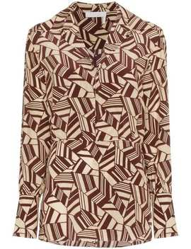 Geometric Print Silk Shirt by Chloé