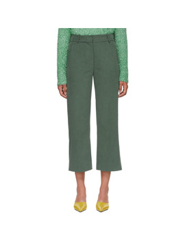 Green Bexley Cropped Trousers by Sies Marjan