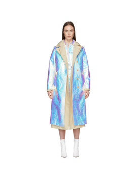 Silver Iridescent Dbl Trench Coat by Sies Marjan