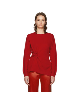 Red Cashmere Rosette Brynn Sweater by Sies Marjan