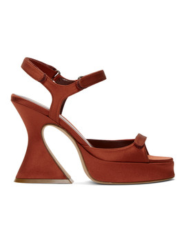 Orange Satin Ellie Strappy Sandals by Sies Marjan
