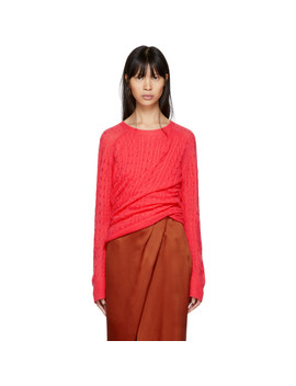 Pink Cashmere Libbie Twisted Sweater by Sies Marjan