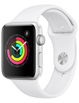 AppleWatch Series3 Gps, 42mm Silver Aluminum Case With White Sport Band by Apple Watch Series 3