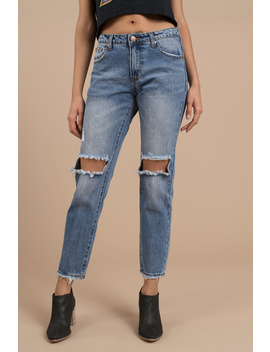 Mulholland Vintage Wash Mid Rise Cropped Jean by Tobi