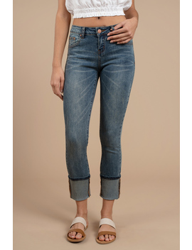 Highland Medium Wash Mid Rise Skinny Jeans by Tobi