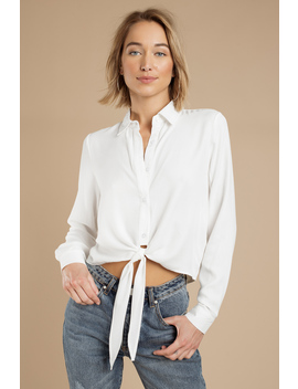 Lay All Day With You White Blouse by Tobi