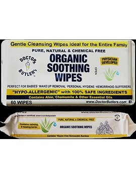 Doctor Butler's Organic All Natural Chemical Free Soothing Wipes... Anytime Use For Babies And The Entire Family by Doctor Butler's